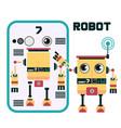 robot character design vector image