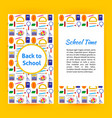school time flyer vector image