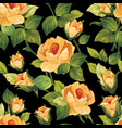 seamless floral pattern with beautiful roses vector image vector image