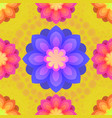 seamless pattern with mandalas flowers vintage vector image vector image