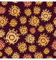 Seamless psychedelic pattern with eyes vector image