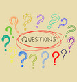 set hand drawn question marks doodle questions vector image