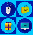set of icons for holidays cyber monday big sale vector image vector image