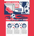 soccer team football championship poster vector image vector image