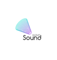 Sound Audio music wave logo design Business icon vector image vector image