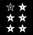 Stars rating vector image