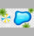 swimming pool vector image vector image