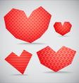 Textured valentine hearts collection vector image vector image