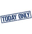 today only stamp vector image vector image
