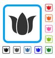 tulip flower framed icon vector image