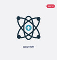 two color electron icon from science concept vector image vector image