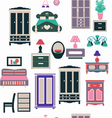 vintage bedroom set furniture vector image vector image