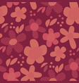 vintage geometric style floral motif vector image vector image