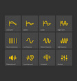 wave and equalize audio icons vector image vector image