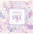 winter shopping sale banner with lettering snow vector image vector image