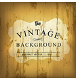 wooden vintage background vector image vector image