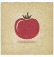 tomato symbol old background vector image