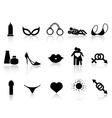 black sex icons set vector image