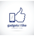 I Like Gadgets Abstract Concept Icon vector image