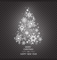 christmas tree made of snowflakes isolated vector image