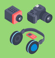 set of isometric computer devices icons vector image