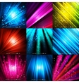 Abstract colored background with waves and lines vector image