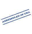 Assembled In USA Watermark Stamp vector image