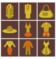 assembly flat icons fashion clothes vector image vector image