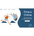 banner online fitness vector image vector image