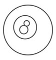 billiard ball thin line icon pool ball vector image