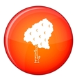Birch icon flat style vector image vector image