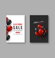black friday sale posters typographic design with vector image vector image