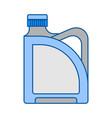 blank plastic canister flat icon packaging for vector image vector image