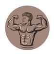 bodybuilder in round vector image vector image
