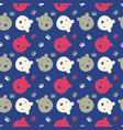 bright bear faces vector image