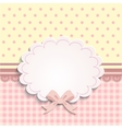 card or label for little girls vector image
