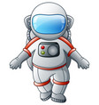 cartoon astronaut on a white background vector image vector image