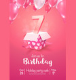 celebrating 7 years birthday 3d vector image vector image