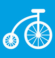 children bicycle icon white vector image