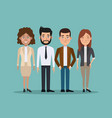 color background full body set of business men and vector image vector image
