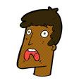 comic cartoon shocked man vector image vector image