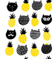 creative endless pattern in scandinavian style vector image