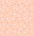 cute modern kids and bagirl pink stars pattern vector image
