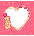 cute valentine teddy bear vector image vector image
