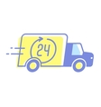 design car 24 hours delivery minimal vector image
