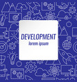 development outline icons set vector image vector image