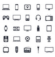 electronic devices technology gadgets icons vector image vector image