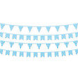 festive paper garland collection isolated on vector image vector image