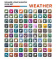 flat color weather icons flat vector image vector image