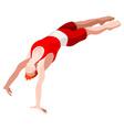 Gymnastics Vault 2016 Sports 3D vector image vector image